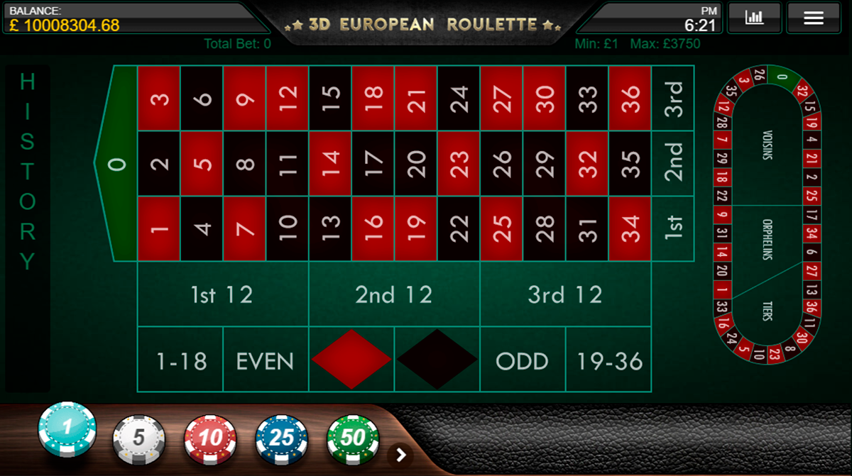 3d european roulette iron dog
