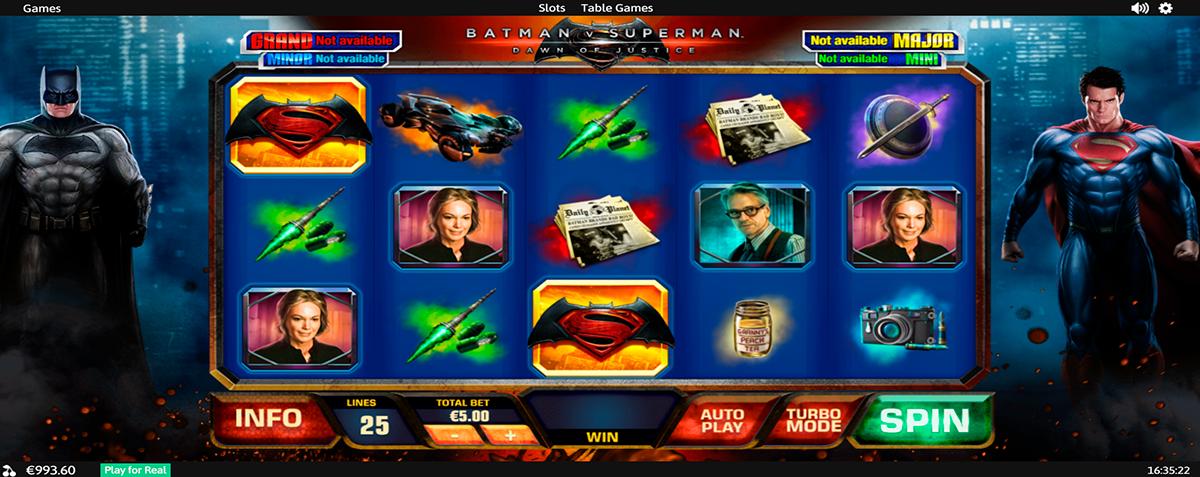 batman vs superman playtech