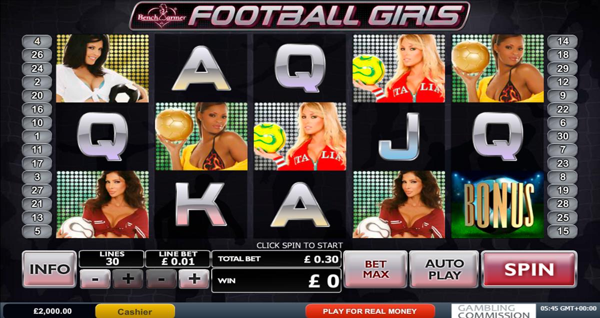 benchwarmer football girls playtech