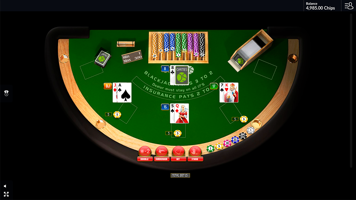 blackjack surrender gamesos