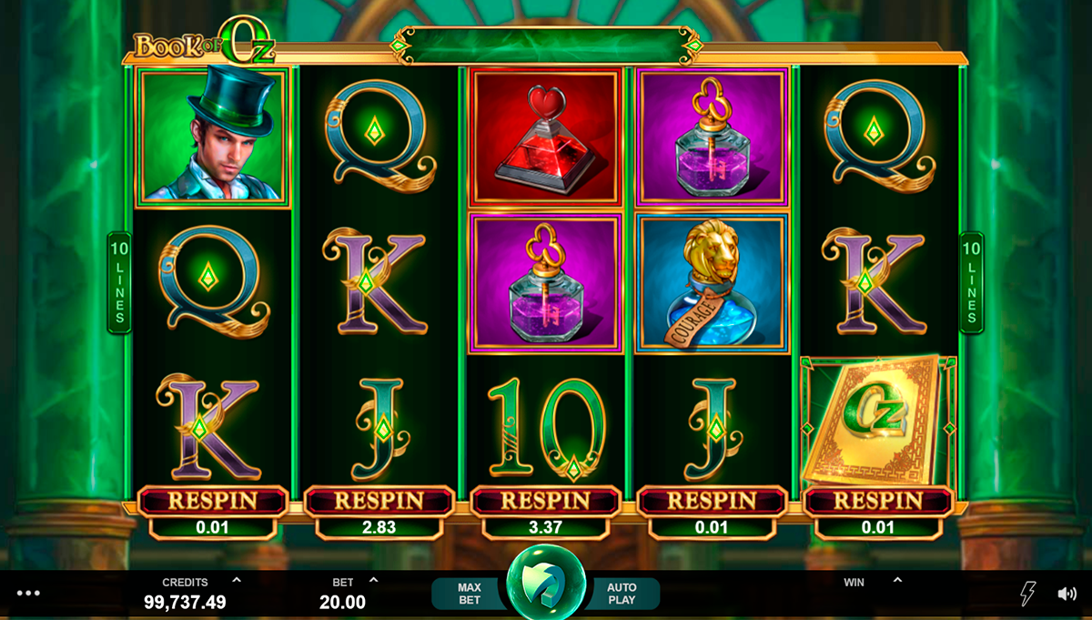 book of oz microgaming