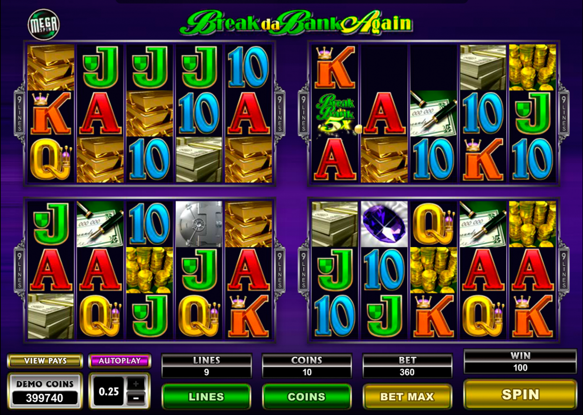 break da bank again megaspin microgaming