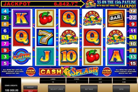 cashsplash video slot microgaming