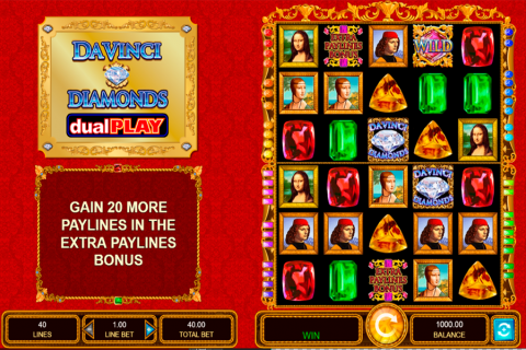 da vinci diamonds dual play igt