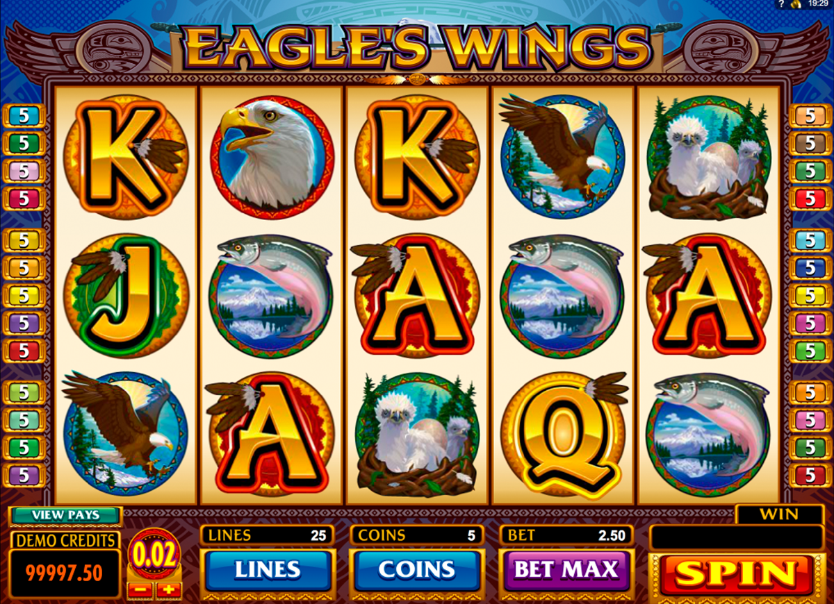 eagles wings microgaming