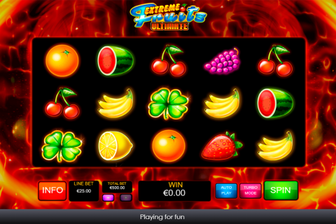etreme fruits ultimate playtech