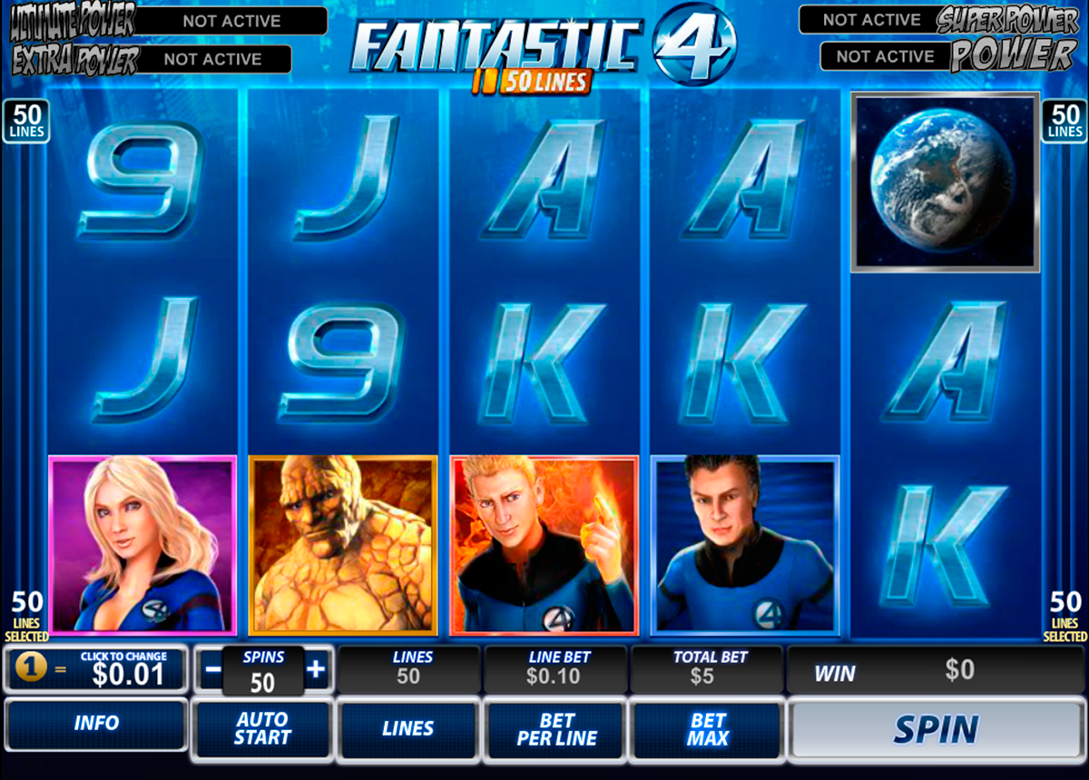 fantastic four 50 lines playtech