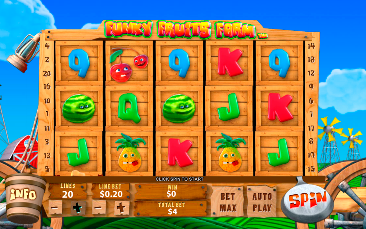 funky fruits farm playtech