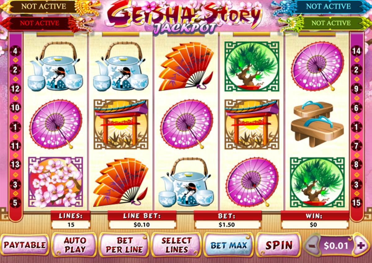geisha story jackpot playtech