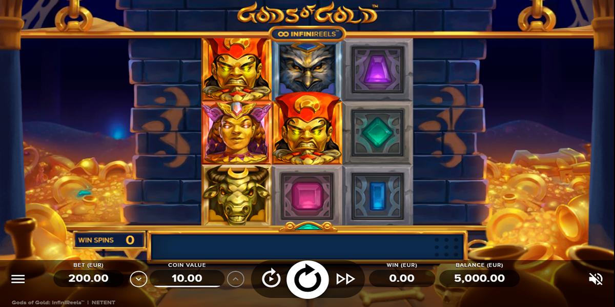 gods of gold infinireels netent