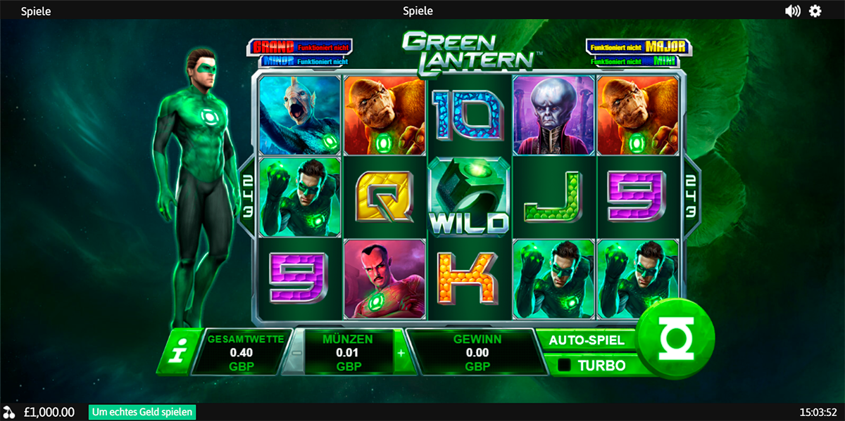 green lantern playtech