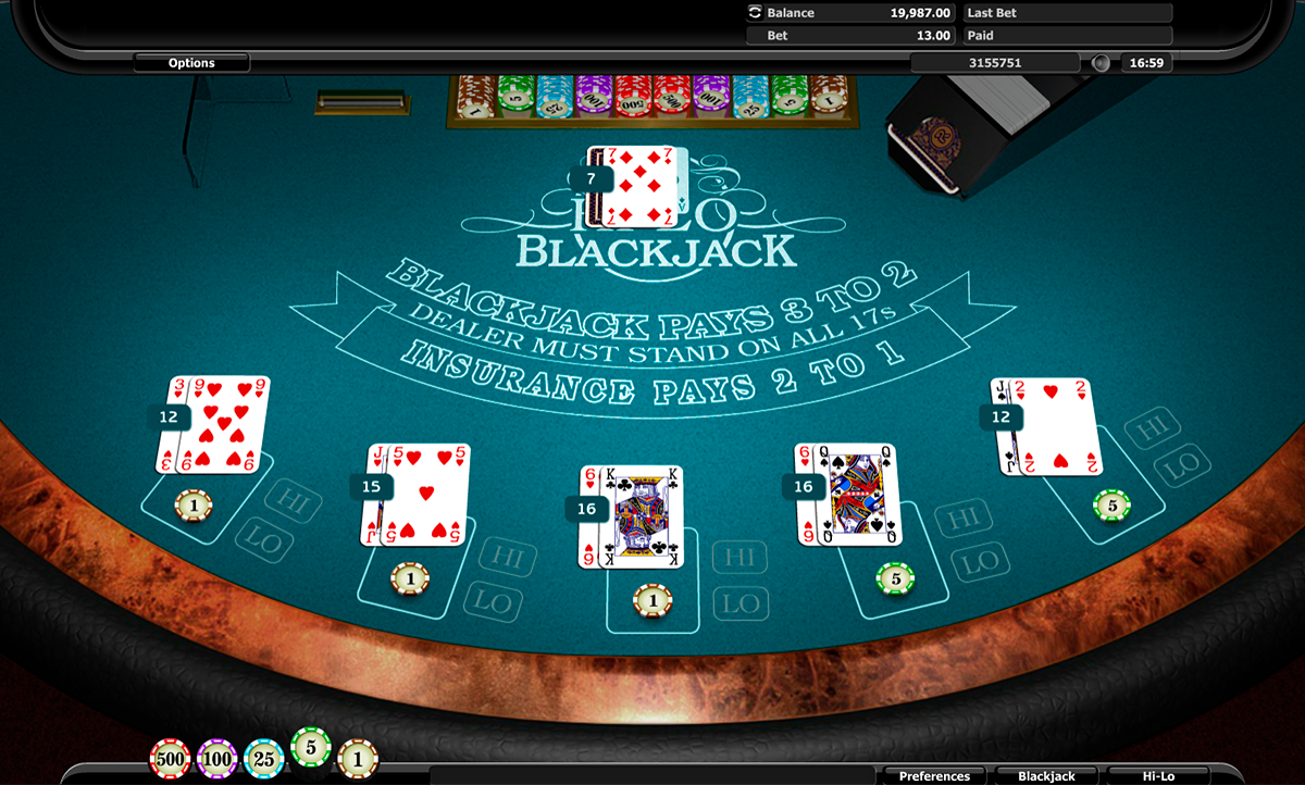 hilo blackjack realistic