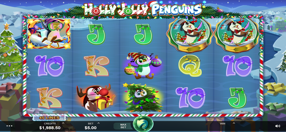 holly jolly penguins microgaming