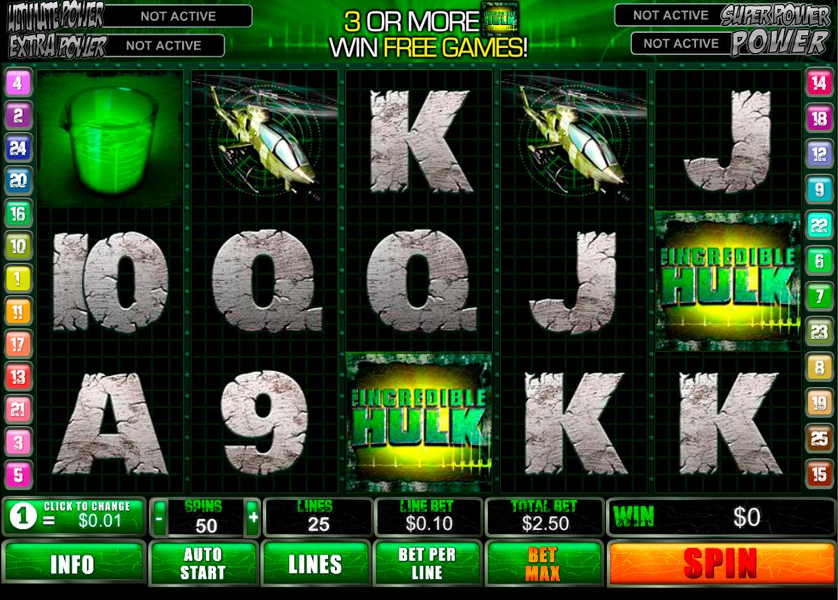 incredible hulk playtech