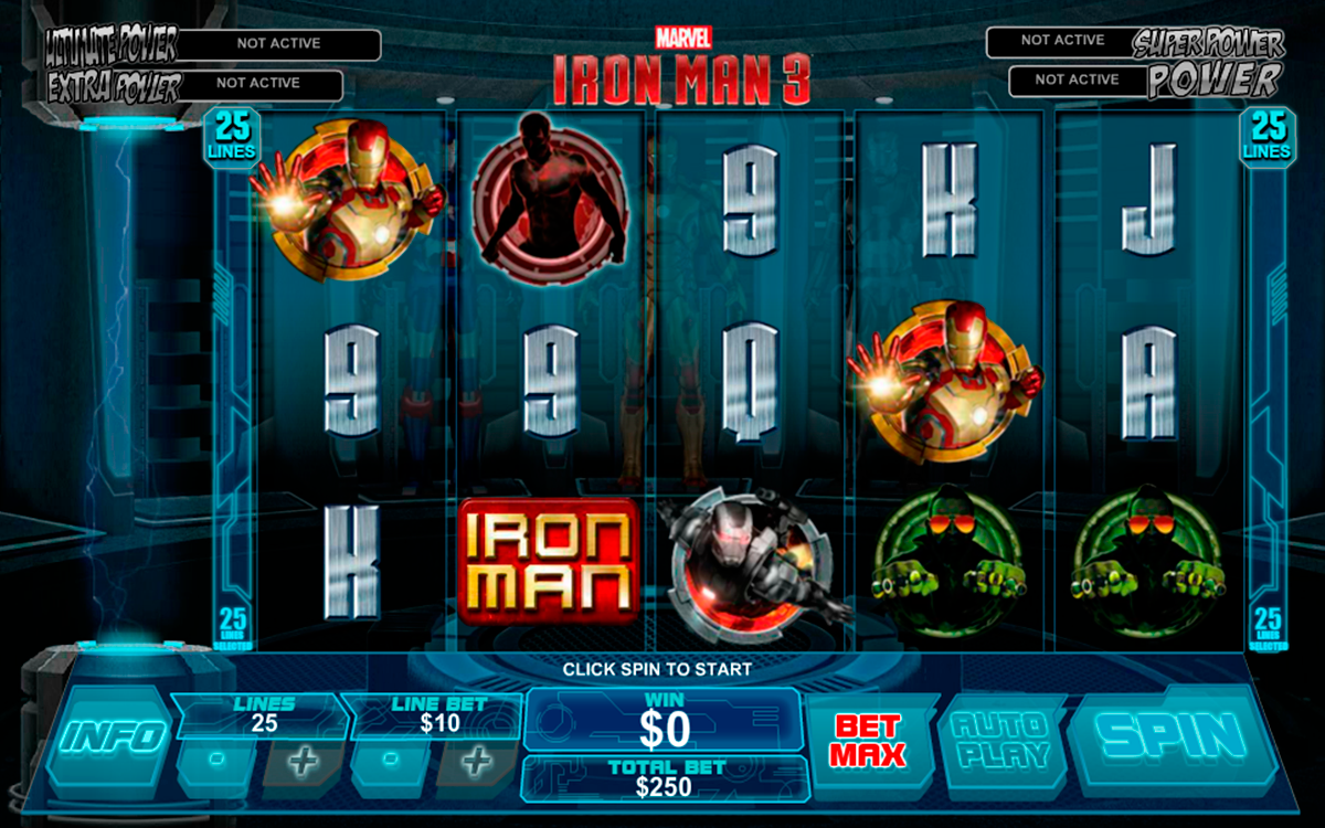 iron man 3 playtech