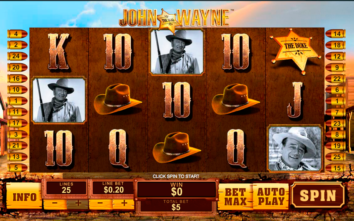 john wayne playtech