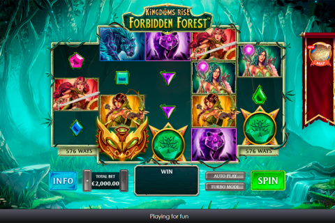 kingdoms rise forbidden forest playtech