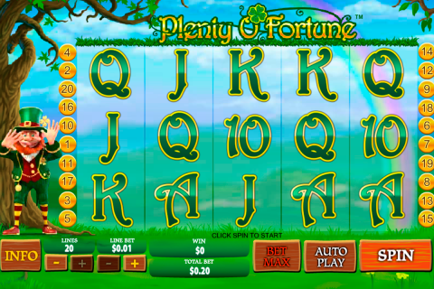plenty o fortune playtech