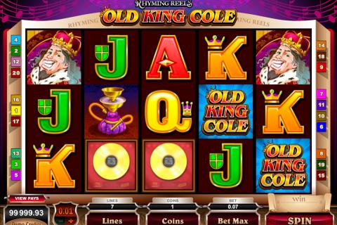 rhyming reels old king cole microgaming