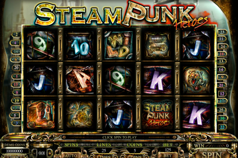 steam punk heroes microgaming