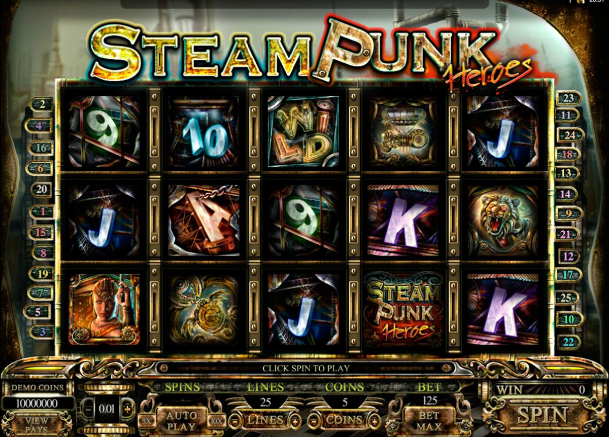 steam punk heroes microgaming