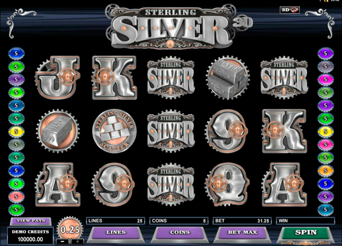 sterling silver 3d microgaming