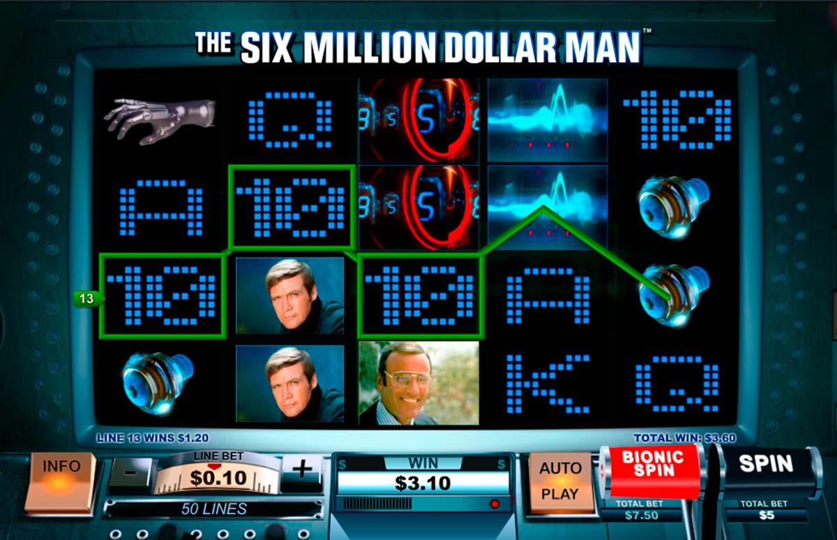 the six million dollar man playtech