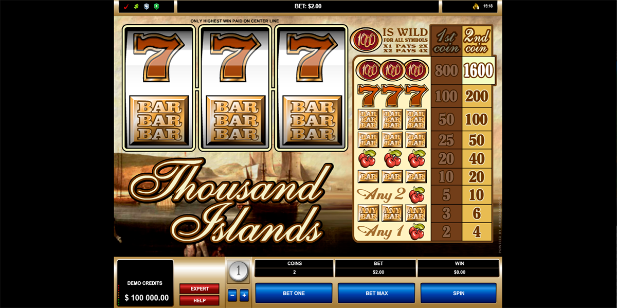 thousand islands microgaming