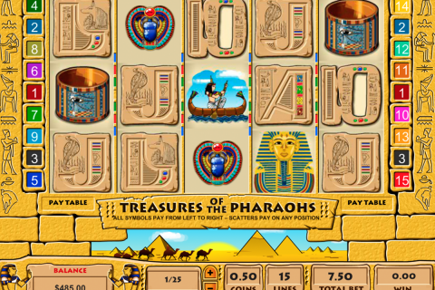 treasure of the pharaohs pragmatic