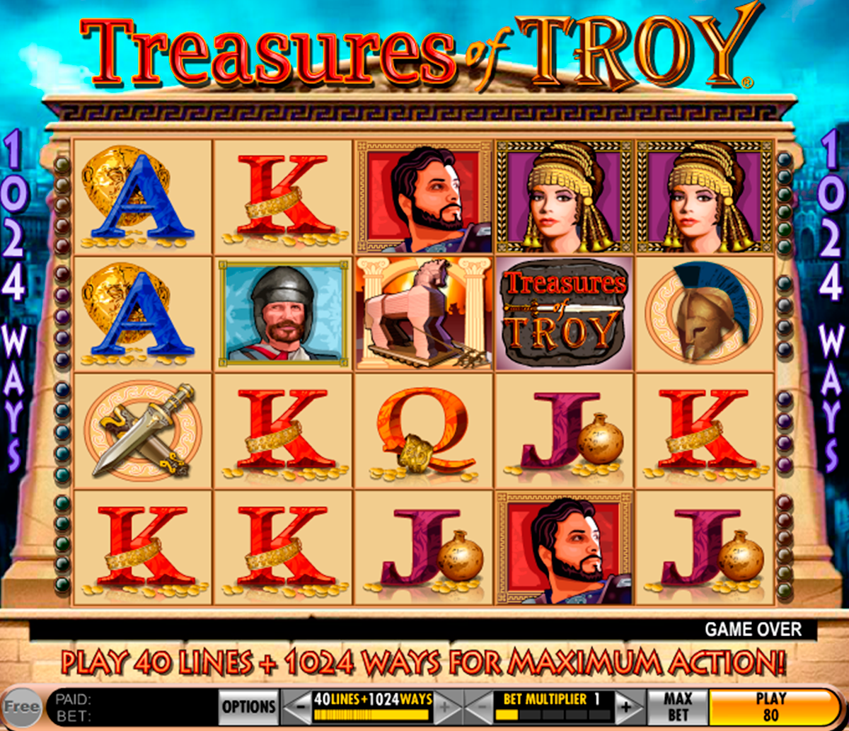 treasures of troy igt
