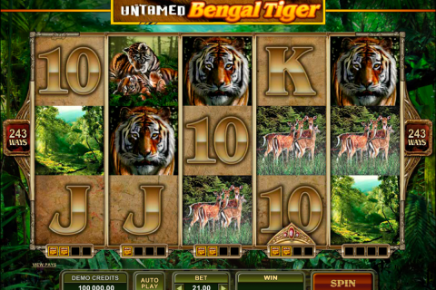 untamed bengal tiger microgaming