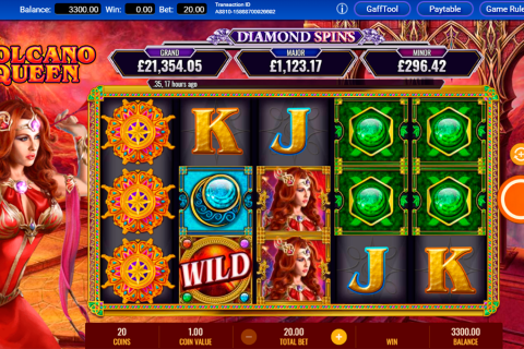 volcano queen diamond spins igt