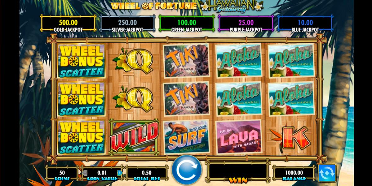 wheel of fortune hawaiian getaway igt
