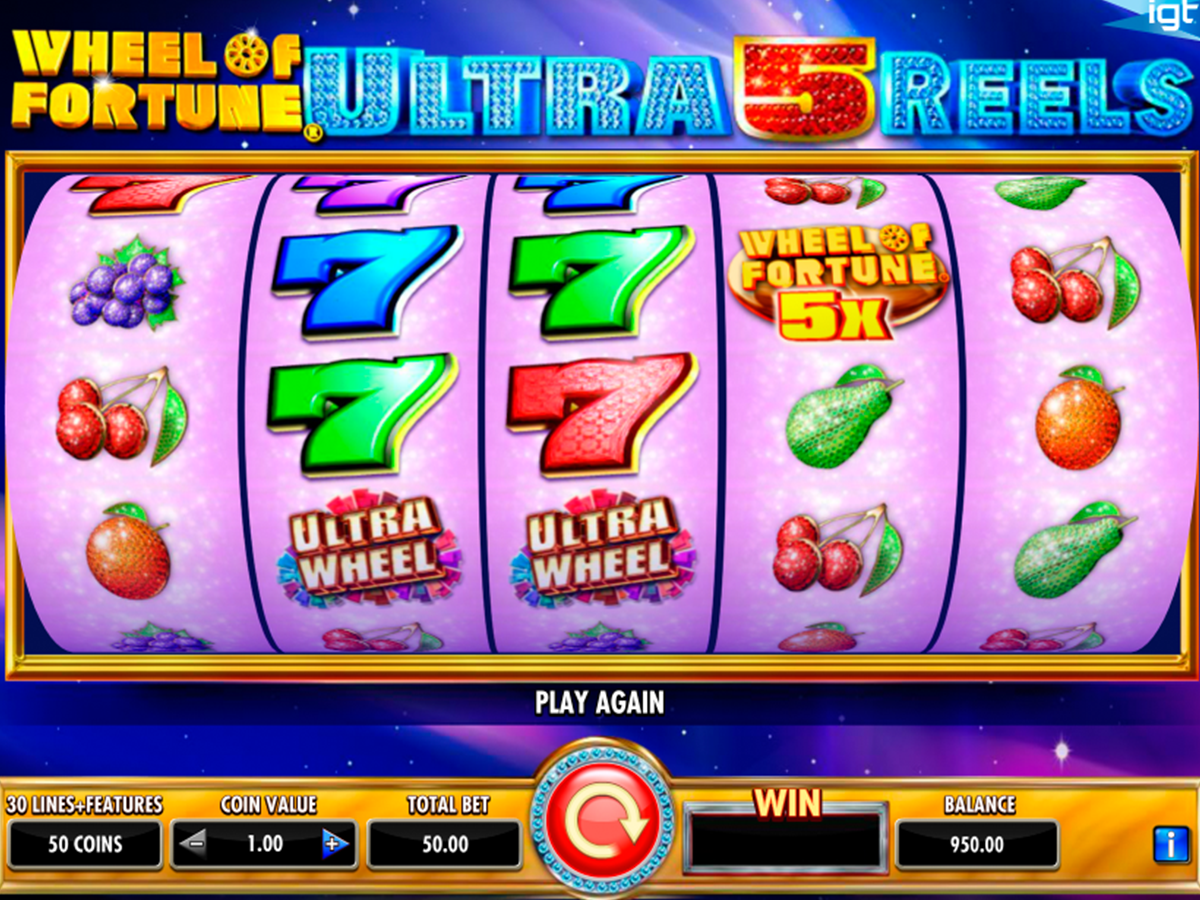wheel of fortune ultra 5 reels igt